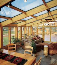 Four Seasons Wood-Interior Sunroom