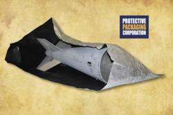 JDAM Tail Section in Protective Packaging ESD/Moisture Barrier Bag