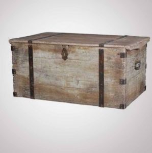 Sailoru0027s TrunkSailoru0027s Trunk In White Washed Distressed Wood ...