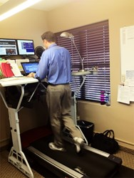 Workout at work with a TrekDesk Treadmill Desk