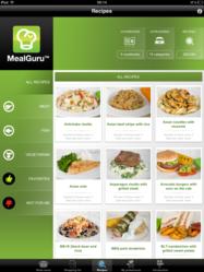 MealGuru iPad is your app to cook healthy meals all week long