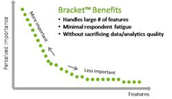 Importance scale of large number of features with Bracket