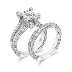 cubic zirconia wedding ring sets