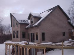 Faux log siding so authentic looking, only your contractor will know for sure
