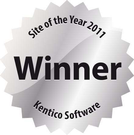 obergine wins a site of the year award in the 2011 kentico