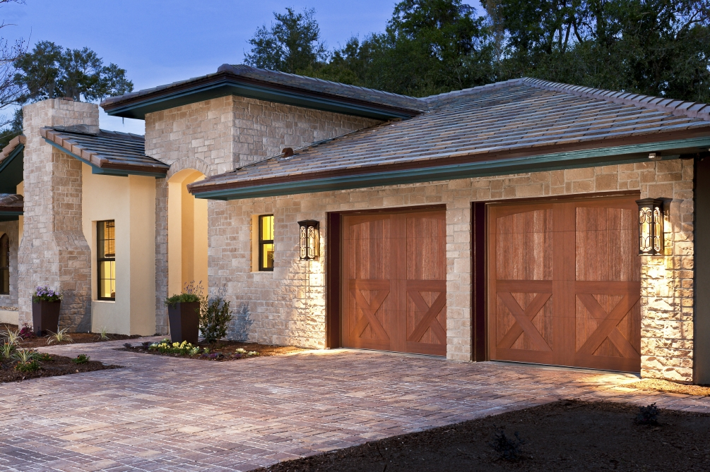 Clopay canyon ridge collection garage doors selected for for Clopay steel garage doors