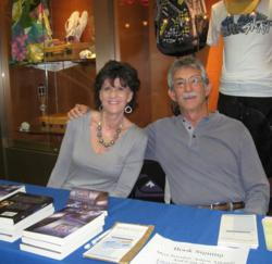 Author Arleen Alleman's second book in the Darcy Farthing Series 'Currents of Vengeance' at book signing aboard cruise ship as Costa Cruises remains in headlines