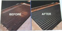 Recessed Floor Mat, Before and After Renovation