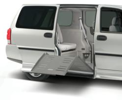 side-entry handicap vans with wheelchair accessible ramp