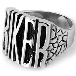 mens stainless steel cast biker ring - Biker Wedding Rings