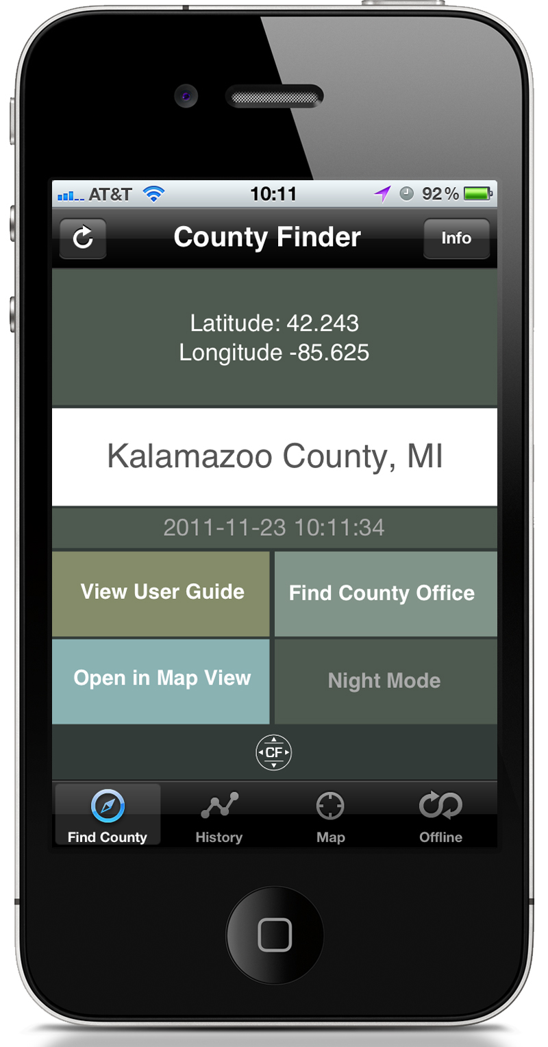 Cross The Line With The New County Finder App For iPhone