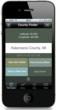 County Finder App for iPhone Main Screen