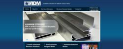 American Douglas Metals' aluminum extrusions microsite sports a complementary look to its parent site and gives specific information about ADM's extrusion processes.