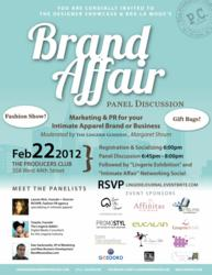 Brand Affair Panel Discussion Marketing & PR for your Lingerie Brand or Business