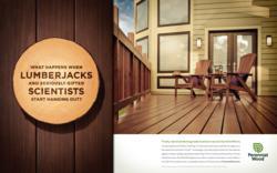Perennial Wood print ad