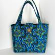quilted, tote, handmade, GBK Oscar Gift Lounge, display piece, hollywood, gold