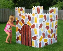 The Easy Playhouse Castle is the only reversible Castle design arts and crafts activity that provides a safe environment for your children, day care or party.