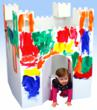 Easy Playhouse provides a creative craft activity that children can spend time, first decorating, then playing games in and around the playhouse.