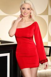Holly Madison in beautiful sexy red dress from AMiclubwear