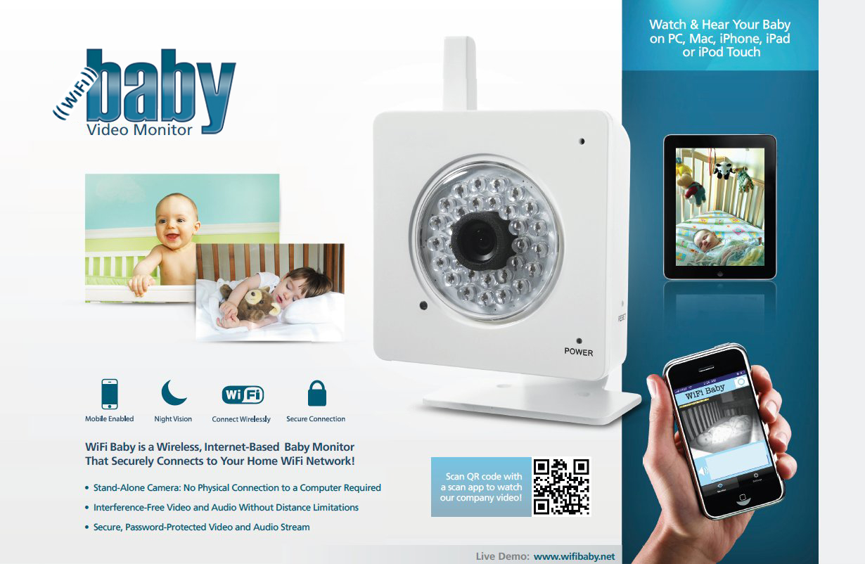 wifi baby 3g video baby monitor now compatible with android phones and tablets. Black Bedroom Furniture Sets. Home Design Ideas