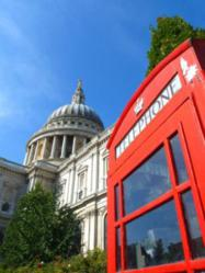 London Urban Adventures, #LondonGold: St Paul's Cathedral and telephone box