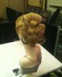 Rebecca's up-do for the Bridal Competition looked like a three-dimensional rose.