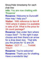 Actual Chat Transcript