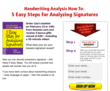 $2.99 Amazon purchase entitles you to a 30 minute video on signature analysis - plus more.