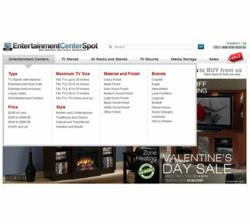 Screenshot of Entertainment Center Spot Home Page Menu