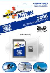 The new MaxFlash Action range of SDHC and microSD memory