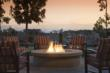 An outdoor firepit is the perfect way to enjoy Southern California's weather.