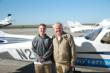 17 year old Nathaniel Hand with his checkride instructor Darryl Christen