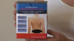 Dr. Allen's device to treat back pain and Sciatica