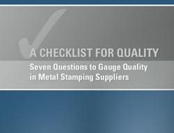 Quality guide for metal stampings