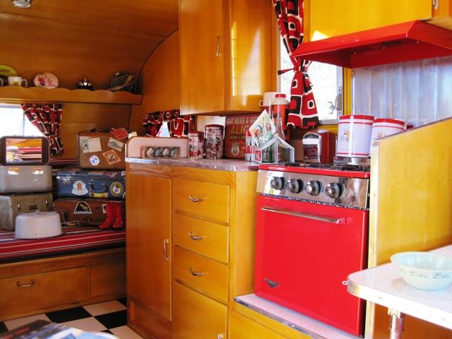 Diner Theme Inside 1962 Shasta