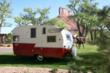 This fully restored 1962 vintage Shasta travel trailer travels all over the Rocky Mountains.