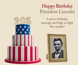 Virtual Birthday Cake for Abraham Lincoln's 203rd Birthday