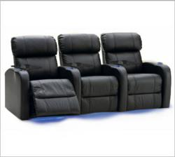 Palliser 41946 Bullet Home Theater Seats in Black Bonded Leather