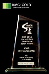 KMG Gold wins BBB Torch Award 2010 and 2011