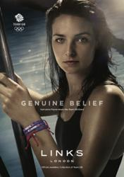 Kerri-anne Payne wears the Team GB Band from Links of London