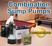 combo sump pump, combination sump pump