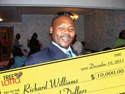 Richard Williams FreeLotto $10,000.00 Winner