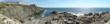 A panoramic view of the Atlantic Ocean from The Cliff House Resort & Spa in Maine.