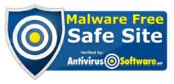 Anti Virus Software Safe Site Badge