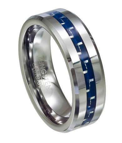 Blue Sapphire Mens Superman Ring Gold