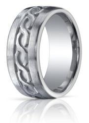 Brushed Argentium Silver Designer Wedding Ring With Celtic Knot Design