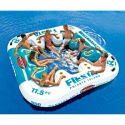Large inflatable islands, ski tubes and towables from Patio Products USA.