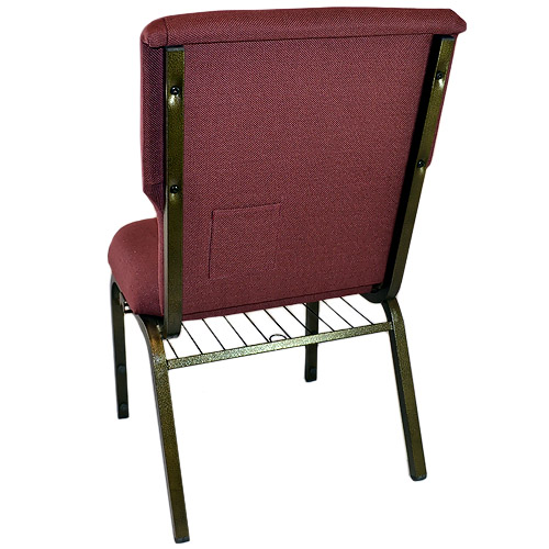 Back View Showing Attached Book RackNew CMW Series Discount Church Chair From Classroom Essentials Online