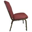 Side View of new Burgundy Discount Church Chair from Classroom Essentials Online.