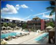 Outdoor swimming pool at The Modern loft condominiums.